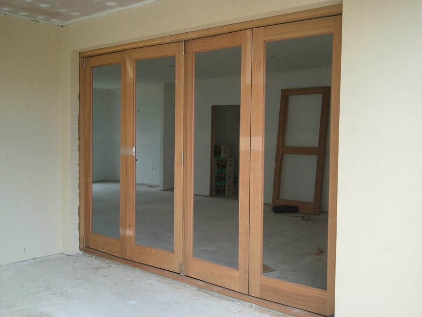 4 panel bifold door. Western red cedar