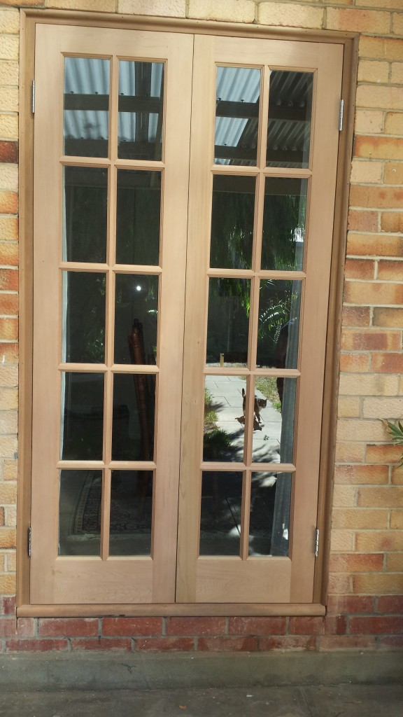French doors with colonial bars