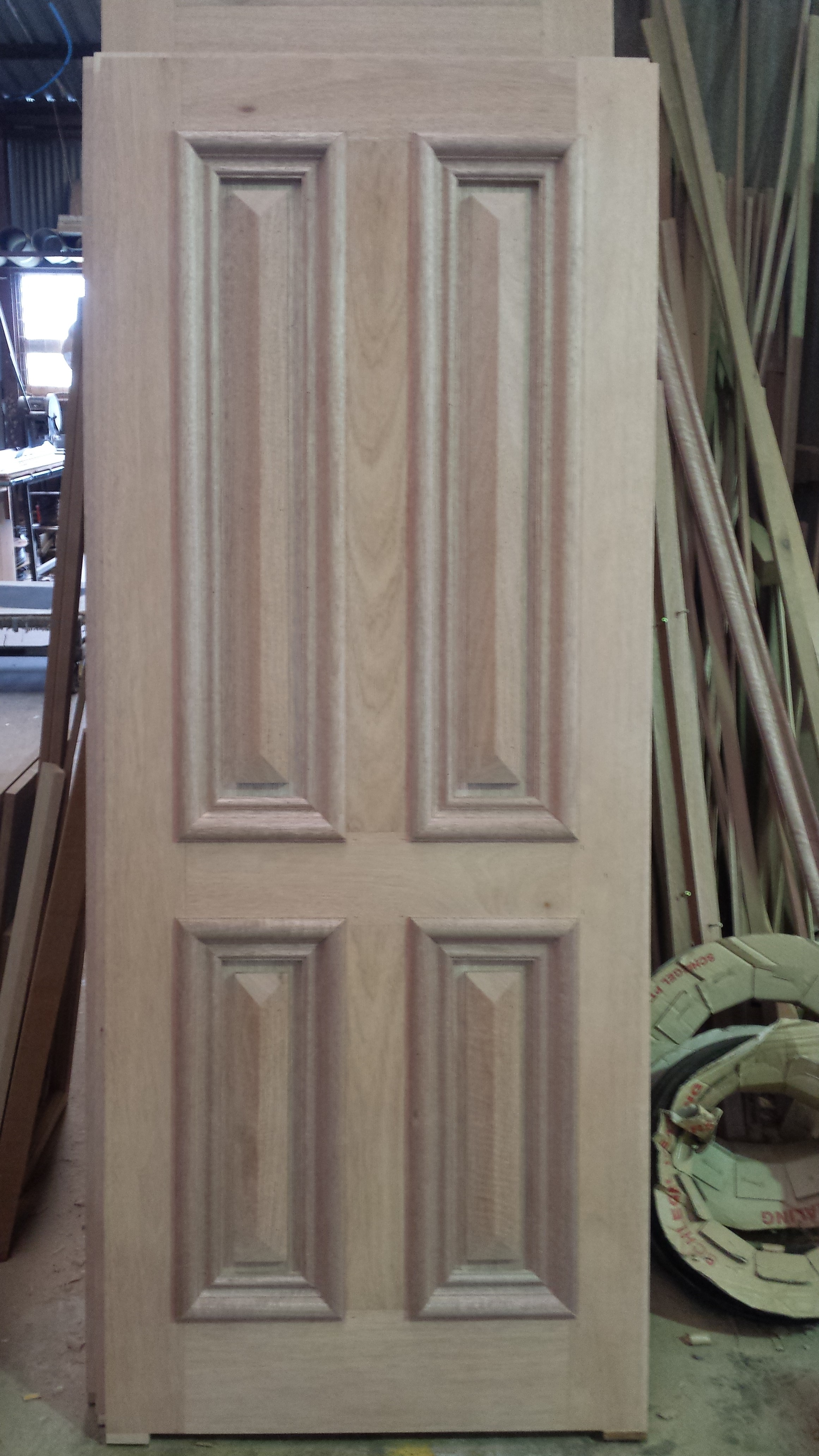 4 panel cricket bat door in Meranti & Timber Front Doors u2013 THE WINDOW MAN