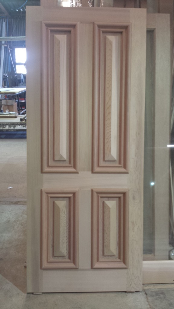 Another 4 panel cricket bat door. also in meranti. 42mm thick