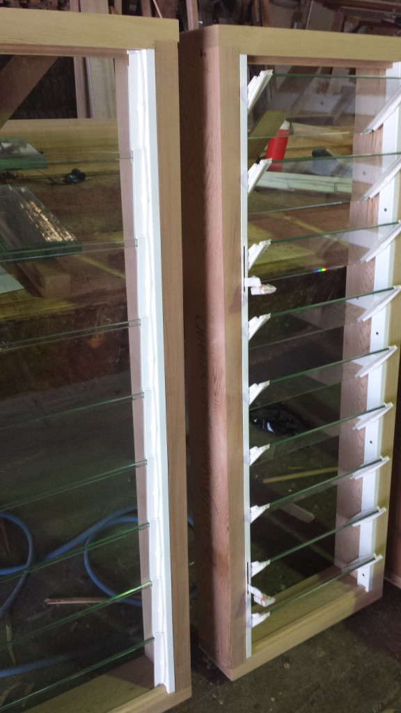 Timber frames louvre windows