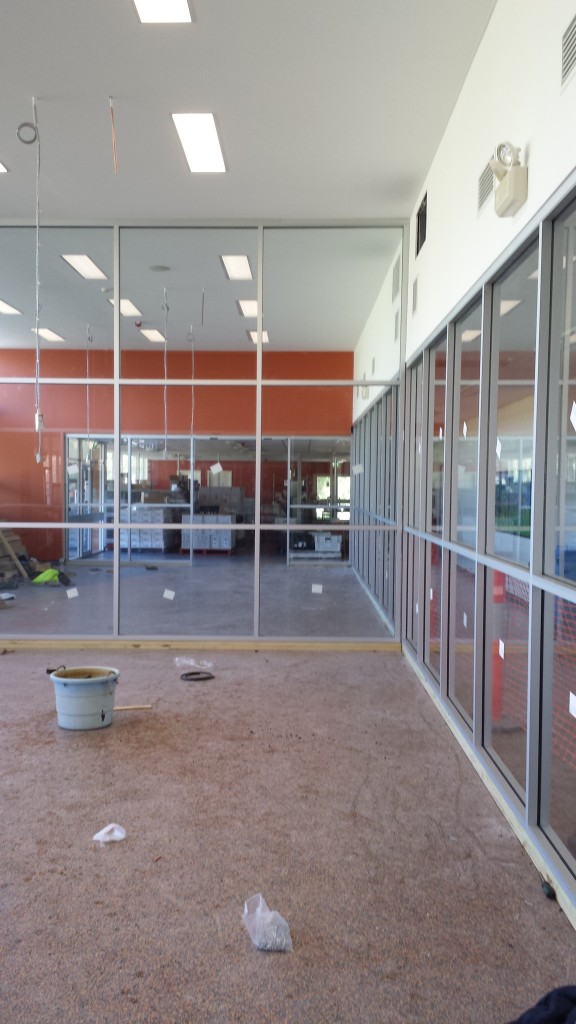 Some 6.38 clear laminate glass has been glazed