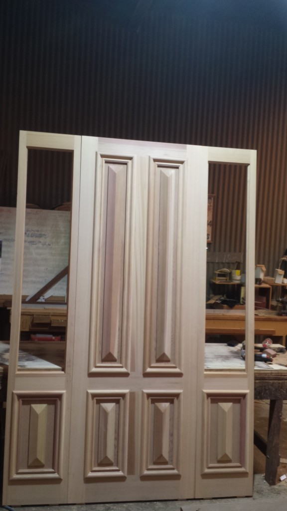 WEstern red cedar cricket bat door with matching sidelites. 2650 high