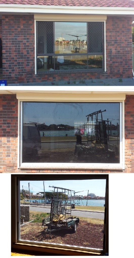 removal of old aluminium window. installation of new commercial fixed lite window with 11.38 mm glass - glass weighed at 150kg. grey laminate glass.