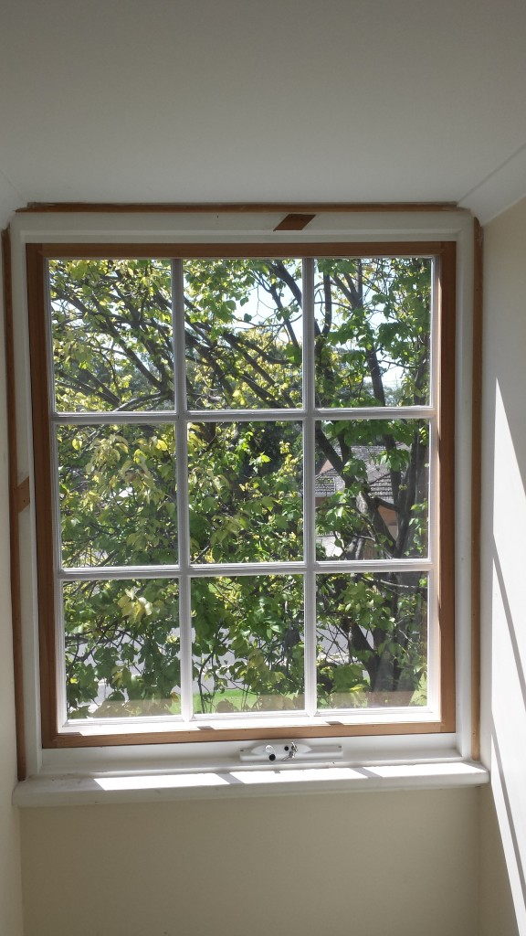 Inside view of awning window