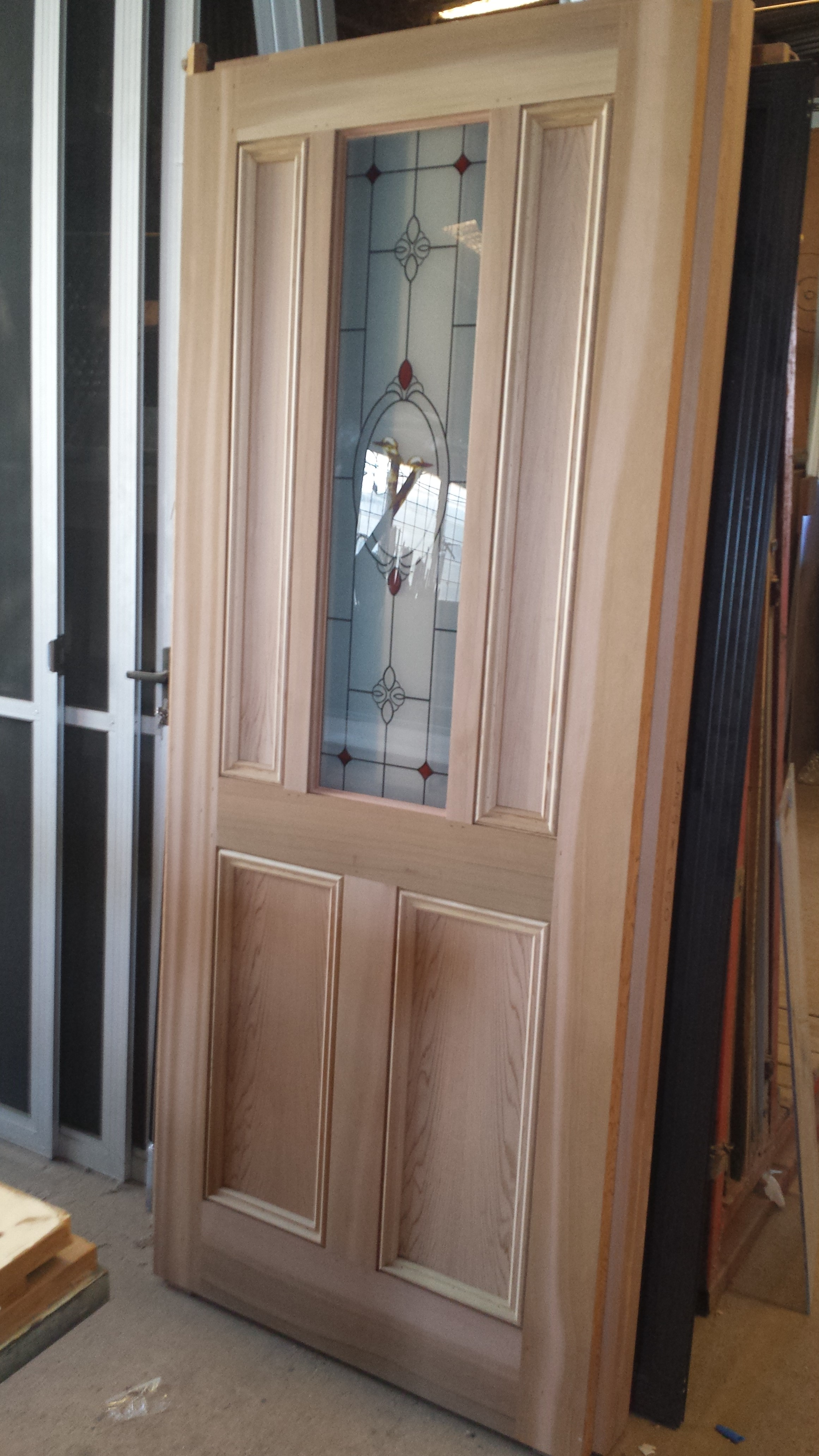 Front Door in western red cedar. & Western Red Cedar door with leadlight \u2013 THE WINDOW MAN