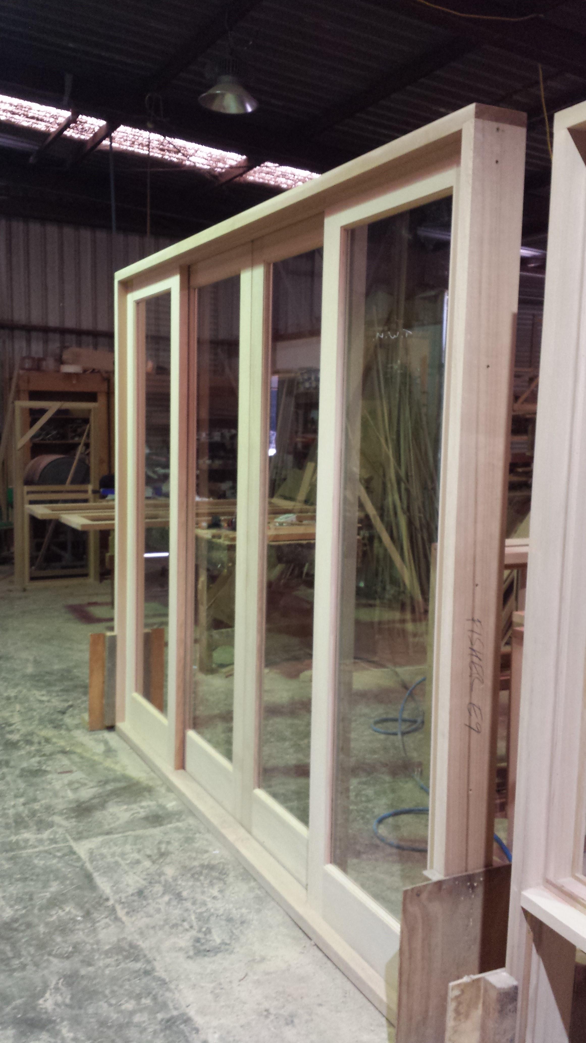 4 Panel Sliding Door In Western Red Cedar The Window Man