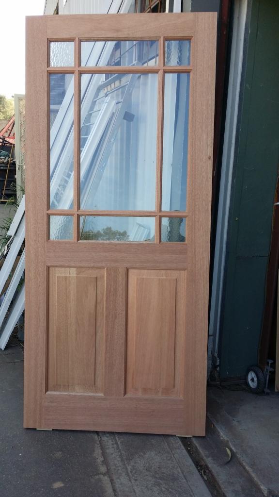 meranti door with federation bars