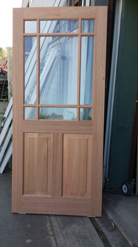 meranti door with federation bars