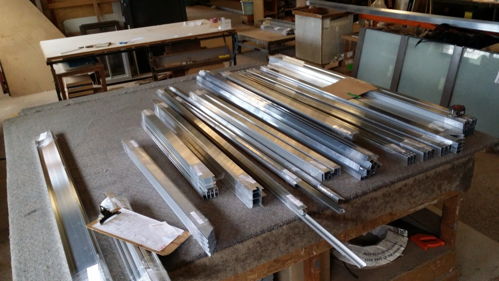 "Mill (raw) aluminium, ready for delivery to the powdercoater for painting as ""NOTRE DAME """