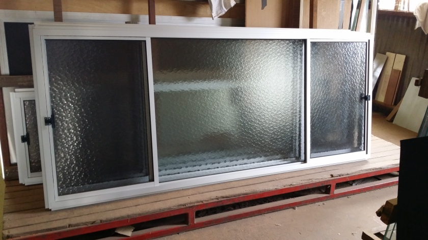 clear anodise double sliding window