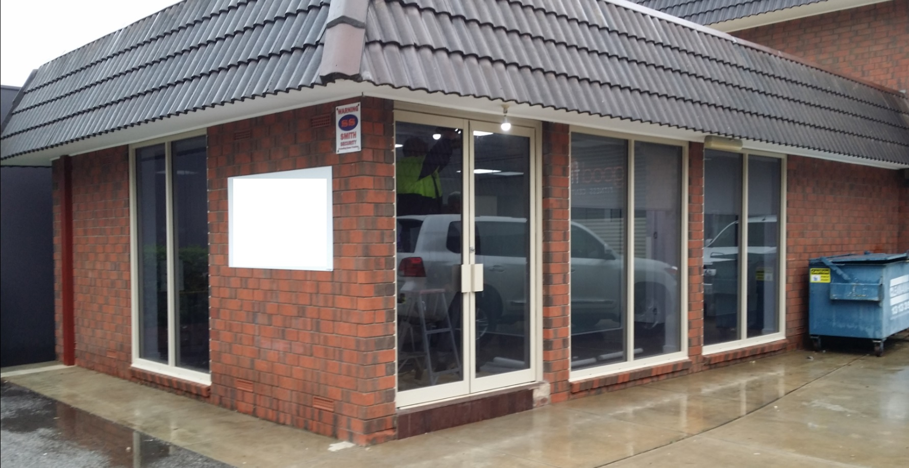 Commercial Fixed Windows : Commercial fixed lites with double pivot door the window man