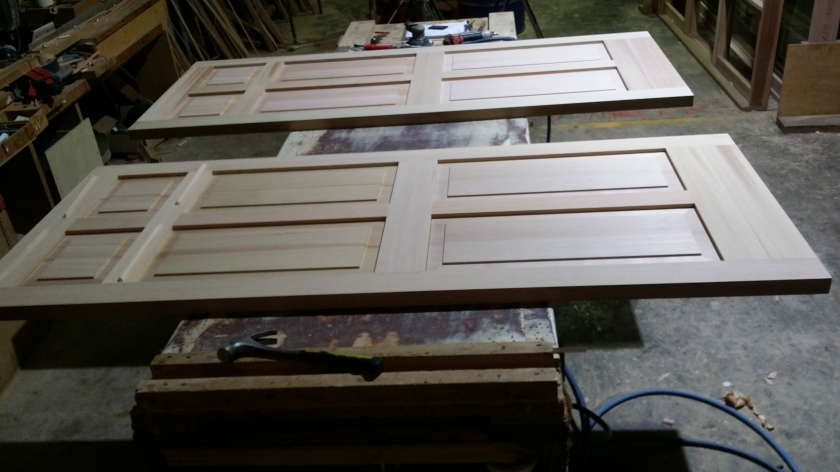 cedar doors recessed panels