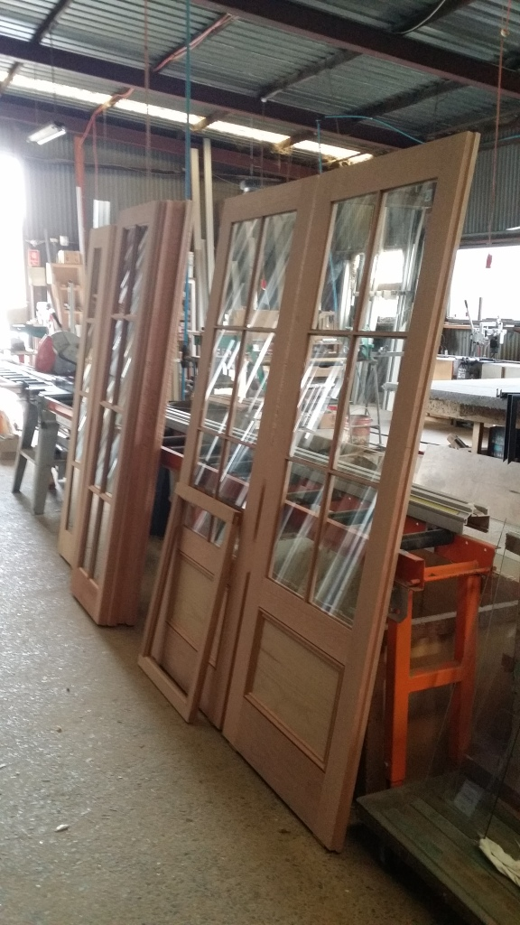 doors being glazed